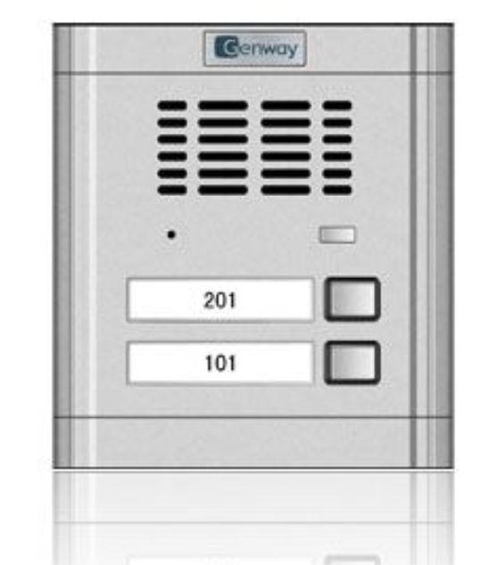 Interfon audio - Panou de apel pentru 2 familii Genway