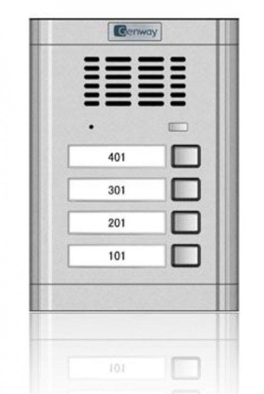 Interfon audio - Panou de apel pentru 4 familii Genway