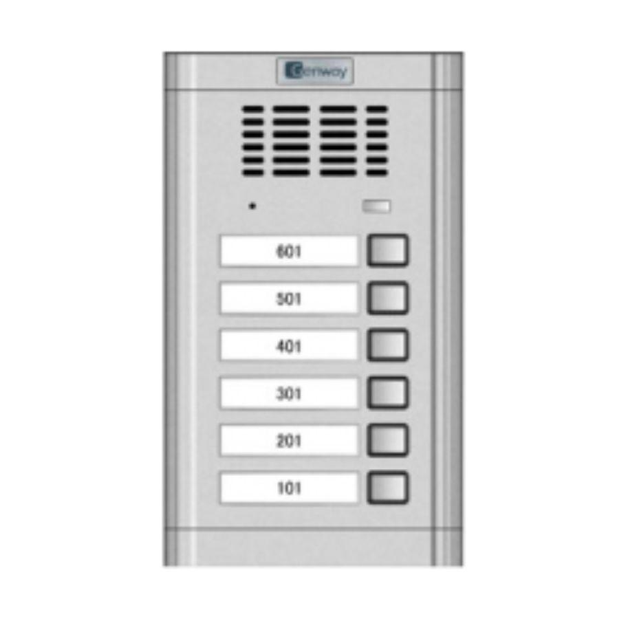 Interfon audio - Panou de apel pentru 6 familii Genway