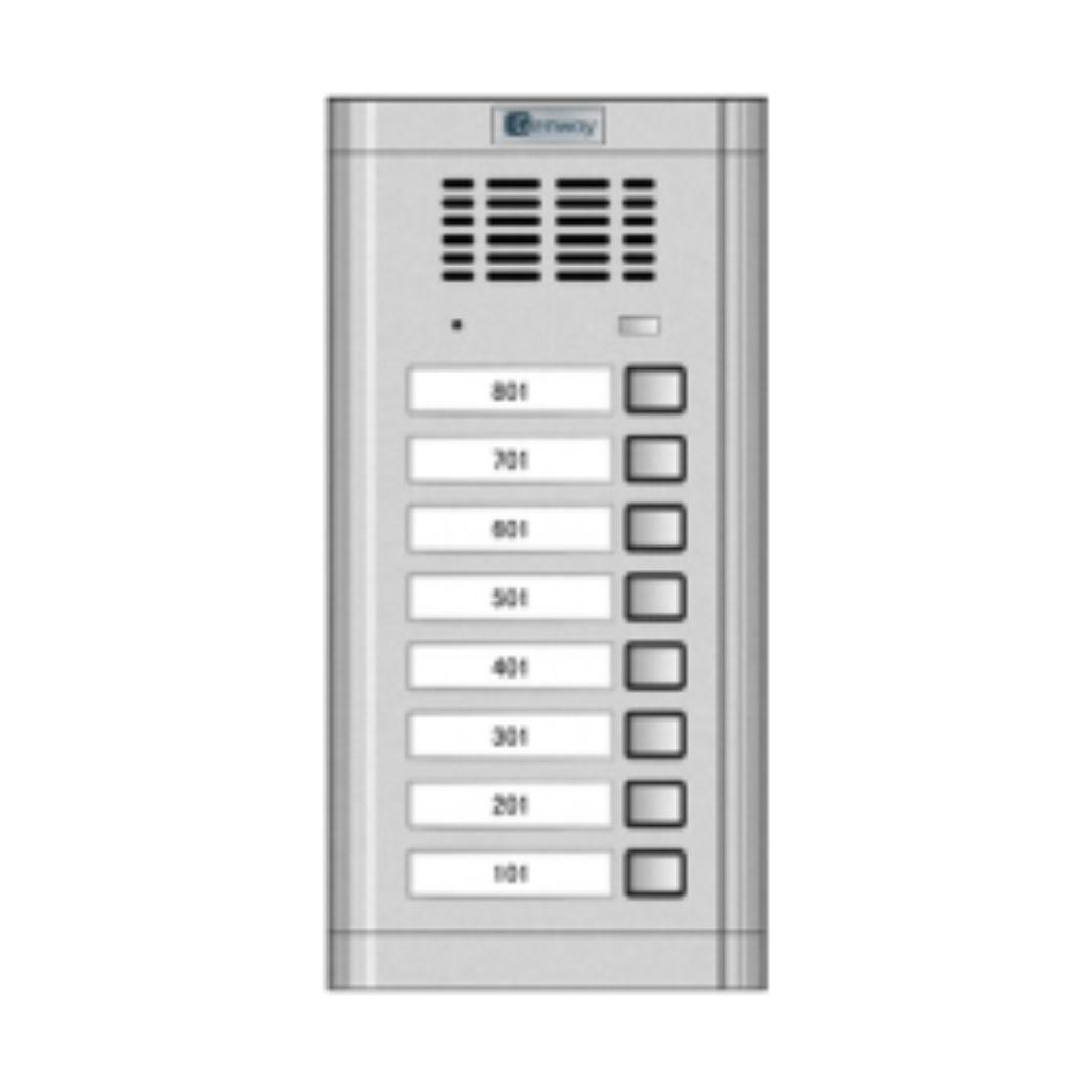 Interfon audio - Panou de apel pentru 8 familii Genway