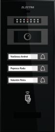Interfon video - Panou exterior VIDEO SMART color pentru 3 familii ELECTRA